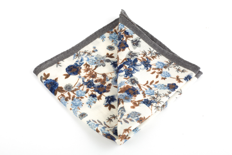 Wool Floral - Off White/Beige/Light Blue/Navy Blue