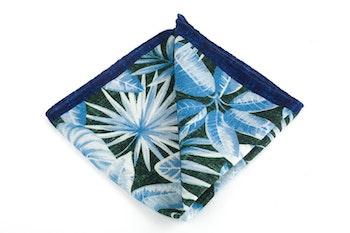 Wool Palma - Navy Blue/Turquoise/White
