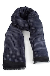 Wool Polka Dot - Navy Blue/Grey