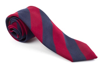 Wool Regimental - Burgundy/Navy Blue