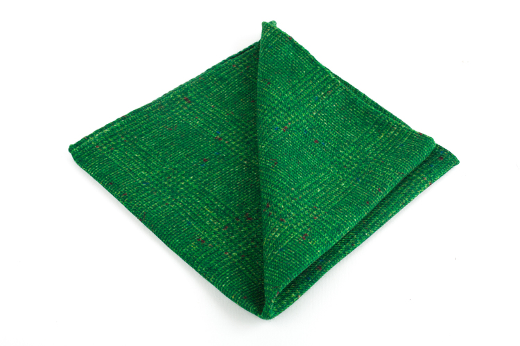 Wool Donegal Plaid - Green