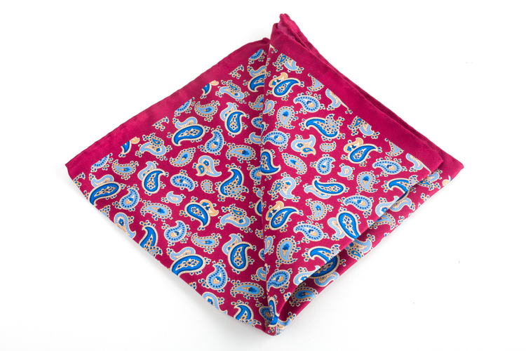 Silk Paisley - Burgundy/Light Blue/Navy Blue