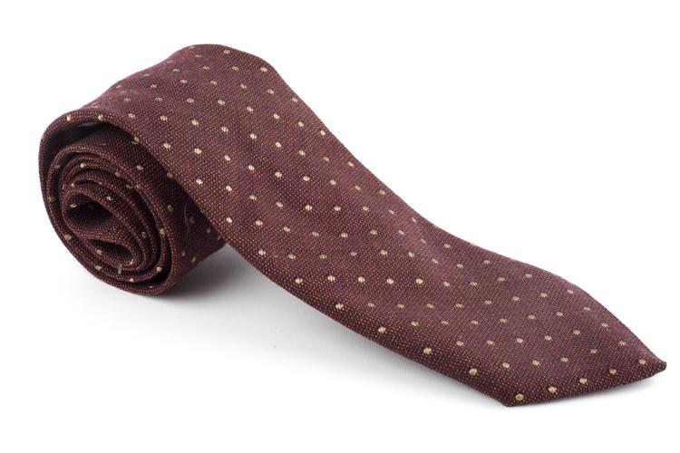 Wool Polka Dot - Rust/Brown/Beige