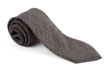 Wool Polka Dot - Brown/Beige/Orange