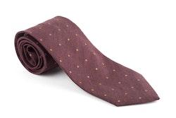 Silk/Cotton Floral - Burgundy/Rust