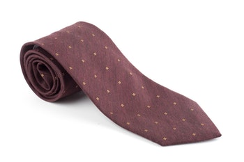 Silk/Cotton Floral - Burgundy/Rust