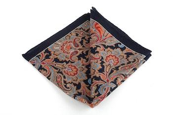 Wool Paisley - Navy Blue/Beige/Burgundy/Light Blue/Brown