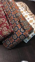 Paisley Vintage Silk Tie - Orange/Beige