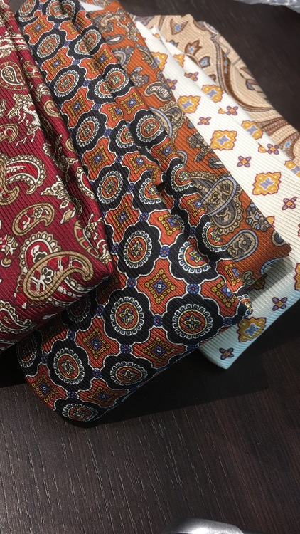 Paisley Vintage Silk Tie - Burgundy/Brown/Beige