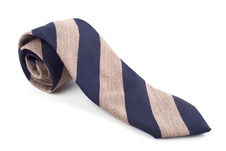 Wool Regimental - Beige/Navy Blue