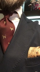 Cotton/Silk Animali Tie - Burgundy