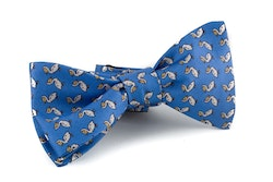 Duck Vintage Silk Bow Tie - Light Blue/Yellow/White