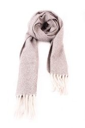 Herringbone Lambswool Scarf - Light Grey