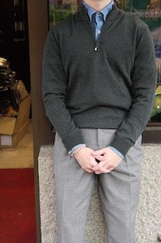 Halfzip Merino Pullover - Green
