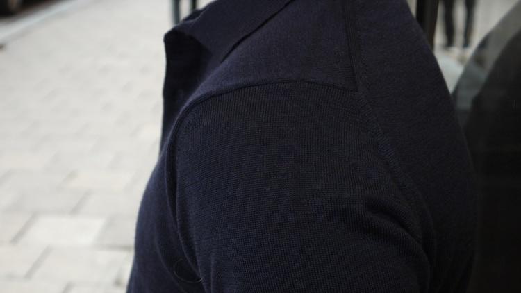 Polo Merino Pullover - Navy Blue