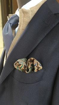 Wool Paisley - Brown/Light Blue/Green/Beige