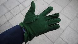Suede Gloves - Green
