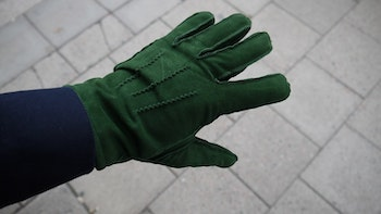 Suede Gloves - Green