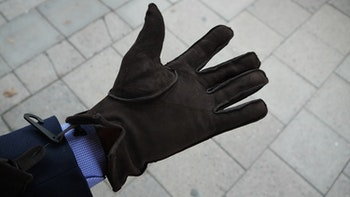 Suede Gloves - Brown