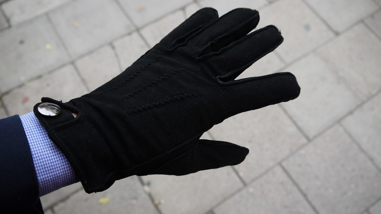 Suede Gloves - Black
