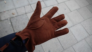 Suede Gloves - Rust