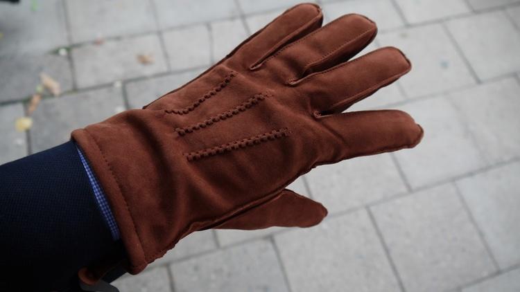 Suede Gloves - Rust