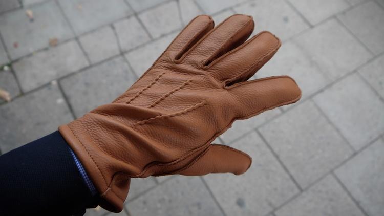 Deerskin Gloves - Cognac