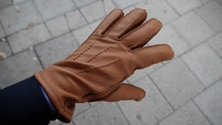 Deerskin Gloves - Cognac