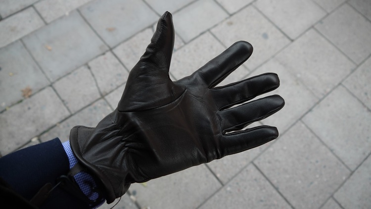 Lamb Leather Gloves - Brown