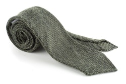 Solid Wool Tie - Untipped - Olive Green