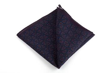 Triangolo Printed Wool Pocket Square - Lilac/Blue