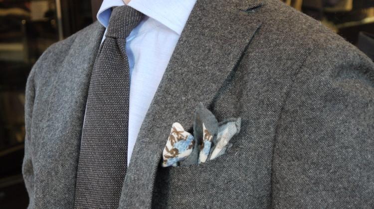 Solid Wool Grenadine Tie - Untipped - Dark Grey