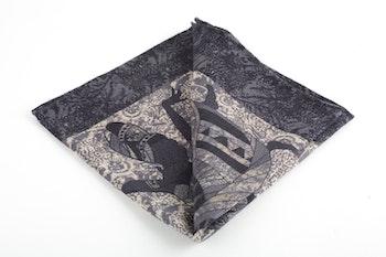 Africa Wool Pocket Square - Grey