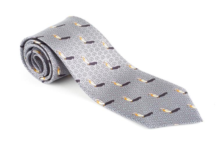 Penguin Vintage Silk Tie - Grey
