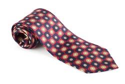 Sole Vintage Silk Tie - Burgundy/Navy Blue