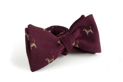 Dog Wool Bow Tie - Burgundy