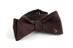 Goose Cotton/Silk Bow Tie - Brown