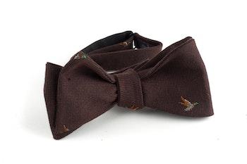 Goose Cotton/Silk Bow Tie - Brown