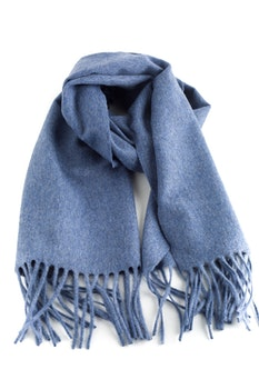 Solid Cashmere Scarf - Steel Blue