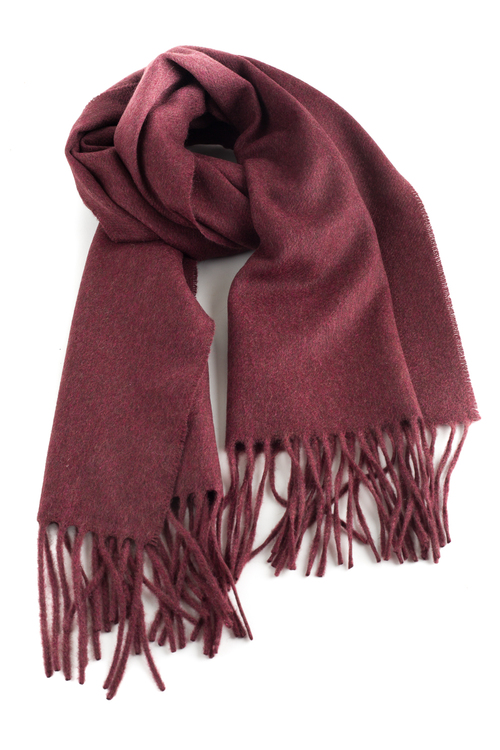 Solid Cashmere Scarf - Bourgogne