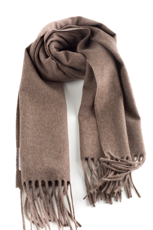 Solid Cashmere Scarf - Nougat