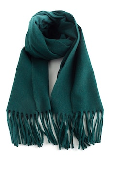 Solid Cashmere Scarf - Green