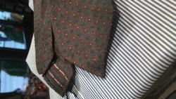 Silk Floral Untipped - Brown/Burgundy/NavyBlue