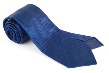 Solid Scales Silk Tie - Untipped - Mid Blue