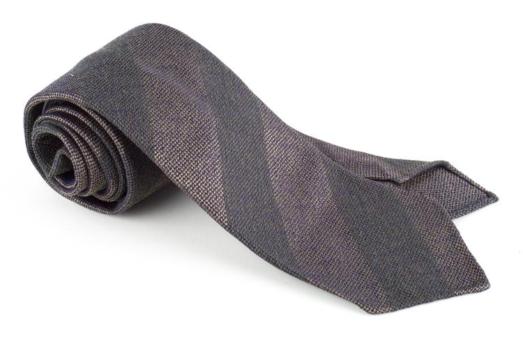 Regimental Wool/Silk Tie - Untipped - Olive Green
