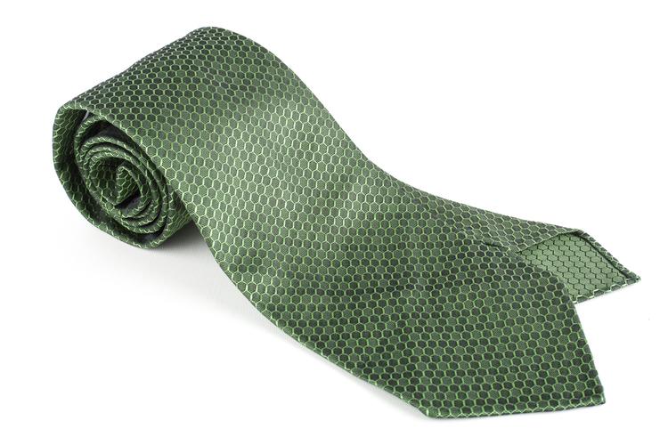 Alveare Silk Tie - Untipped - Green
