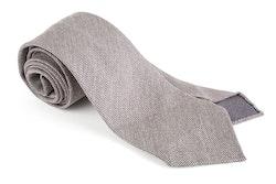 Solid Textured Silk Tie - Untipped - Light Grey