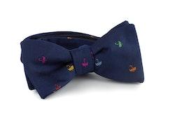 Umbrella Silk Bow Tie - Navy Blue
