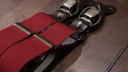 Solid Suspenders Stretch - Burgundy