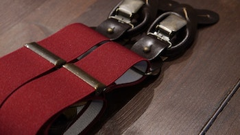 Solid Suspenders Stretch - Burgundy